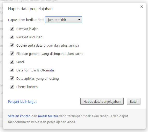 FB Hapus data penjelajah