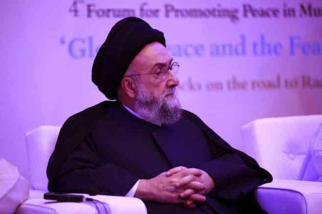 الامين   السلم بين البشر ومقاصد الشريعة الإسلامية- منتدى تعزيز السلم - أبو ظبي 1