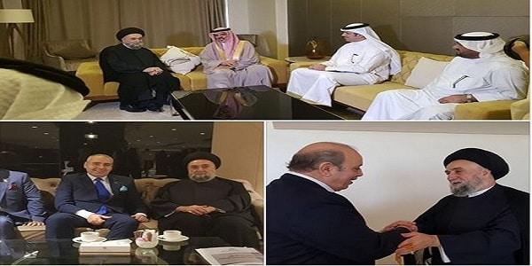 السيد علي الأمين - الوزير النعيمي - - السفير ميلاد نمور - السفير طه عبد القادر