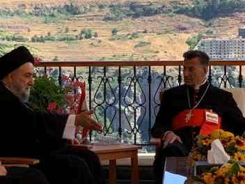 سماحة العلاّمة السيد علي الأمين يلتقي الكاردينال البطريرك الراعي في الديمان IMG-20200722-WA0035