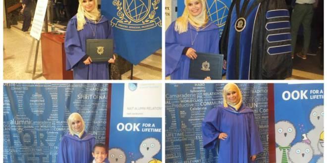 الاستاذة سميرة حمانة السليماني الانصاري تحصل على جائزة احسن معدل اكاديمي بأدمونتون كندا