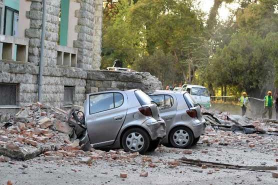 البانیا میں زلزلے کے شدید ترین جھٹکوں کے نتیجے میں سو سے زائد افراد زخمی