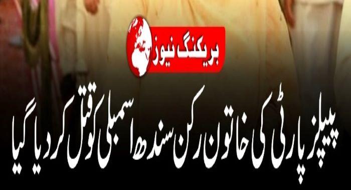 پاکستان پیپلز پارٹی کی رکن سندھ اسمبلی شہناز انصاری قاتلانہ حملے میں جاں بحق