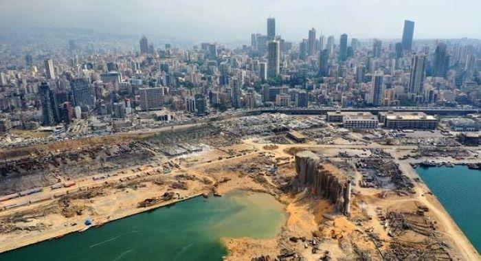 بیروت میں تباہ کن دھماکے سے43 میٹر گہرا گڑھا پڑ گیا