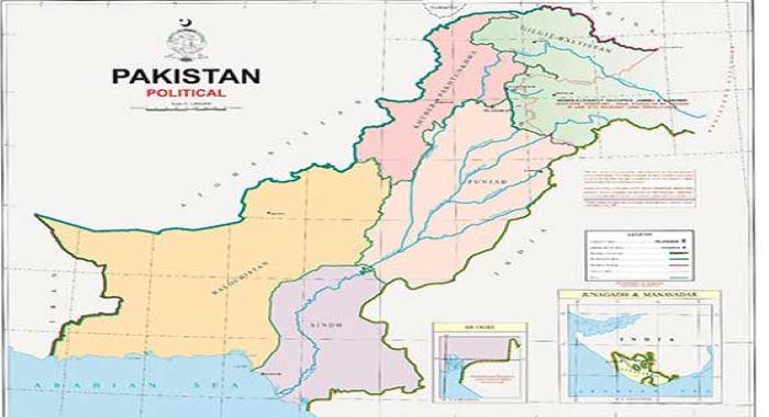 پاکستان کا پولیٹیکل نقشہ جاری،مقبوضہ کشمیر بھی شامل