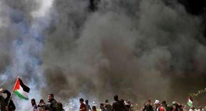 مقبوضہ بیت المقدس صیہونی فورسز کی فائرنگ 100 سے زائد فلسطینی زخمی