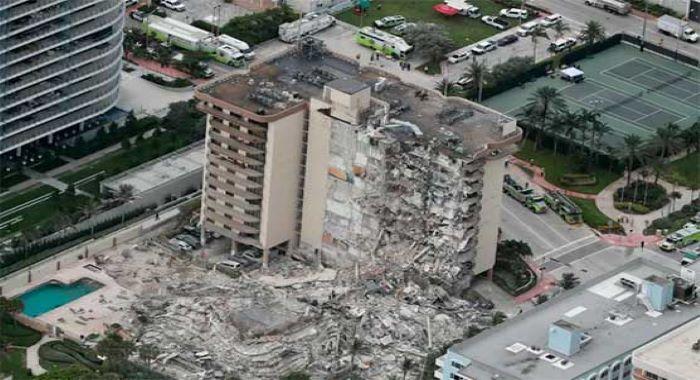 امریکہ میں 12 منزلہ عمارت منہدم ایک شخص ہلاک ،کئی افراد لاپتہ