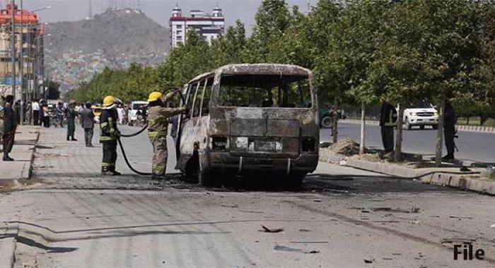 قندھار : بس بارودی سرنگ سے ٹکرانےکیوجہ سے 5 شہری جاں بحق ، 20 سے زائد زخمی