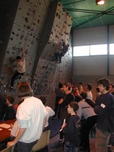 Ancien mur d'escalade