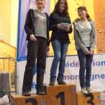 Podium cadets filles (Coupe du Rhône d'escalade - Anse)