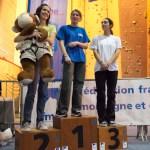 Podium juniors filles (Coupe du Rhône d'escalade - Anse)