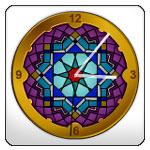 Islamic Web Clock Widget, Octagonal Ornament