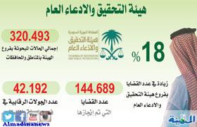التحقيق في 144 ألف قضية خلال عام وبحث 320 5 ألف حالة المدينة