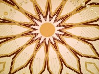 Underneath the dome in the mosque.