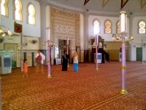 Inside the mosque.