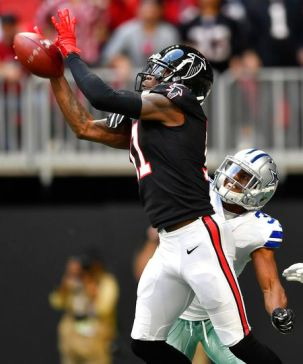 See Falcons' Julio Jones go from WR to DB in one step against Cowboys - al.com