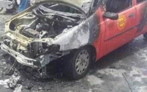 اندلاع حريق مفاجئ بسيارة أجرة وسط مراكش