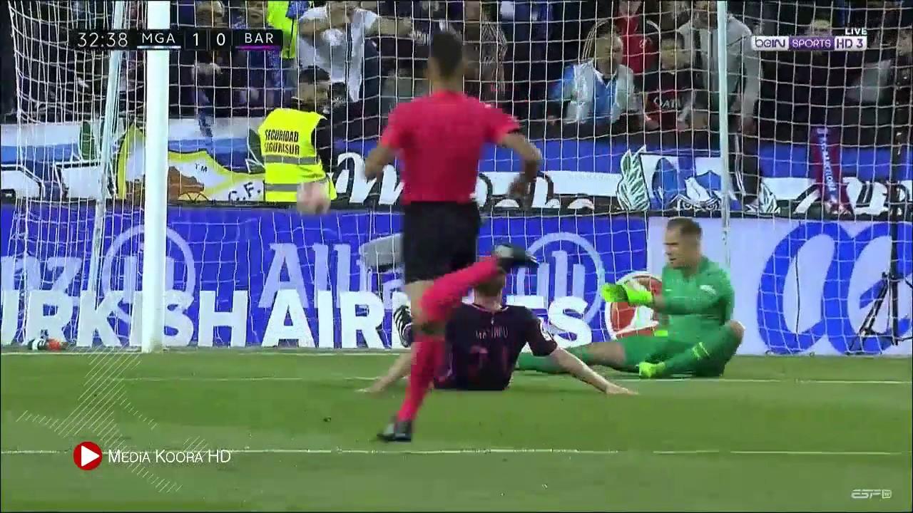 اهداف مباراة برشلونة وملقا 0-2