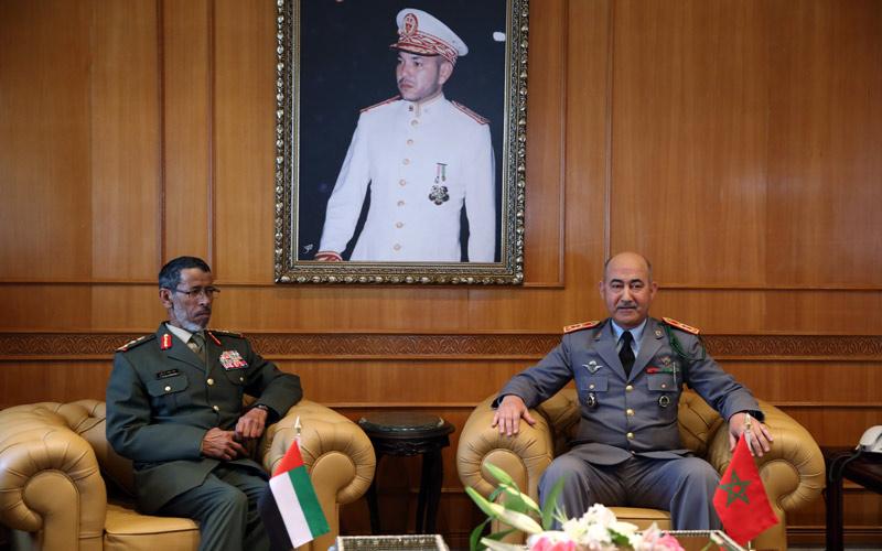 التعاون العسكري المغربي وإماراتي محور لقاء الأمس بالرباط