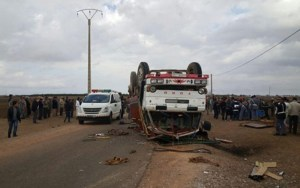 ثلاثة قتلى وجرح 19 آخرين في حاثة سير إقليم فكيك