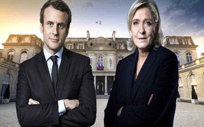 ماكرون رئيسا لفرنسا بفارق كبير على زعيمة اليمين المتطرف لوبن