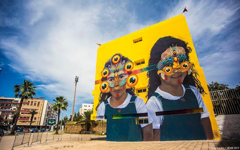اختتام مهرجان جدار، لوحات الشارع بالرباط