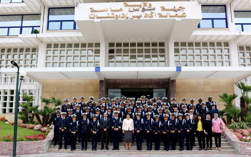 استقبال تلاميذ ضباط المدرسة الملكية البحرية للدار البيضاء