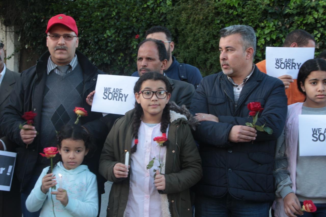 هؤلاء أول مغاربة خرجوا إلى الشارع تضامناً مع مأساة السائحتين الأجنبيتين