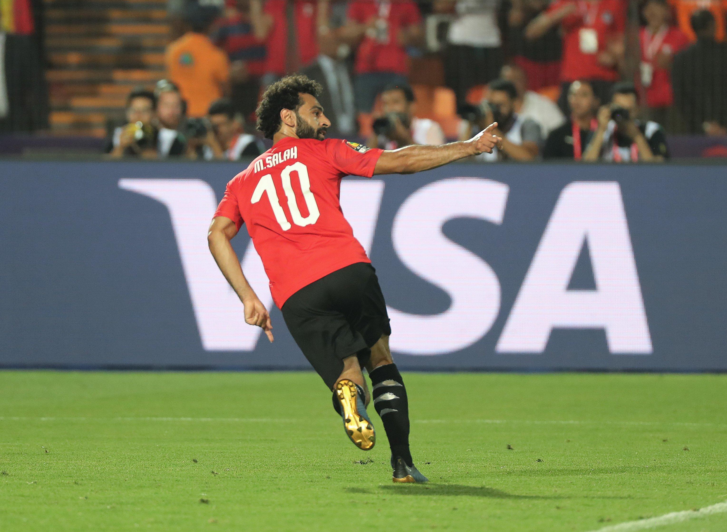 صلاح والمحمدي يقودان مصر لثمن نهائي كأس أمم افريقيا