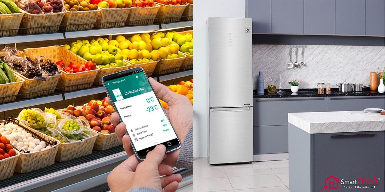 وصايا إل جي لفن تخزين الطعام في الثلاجة