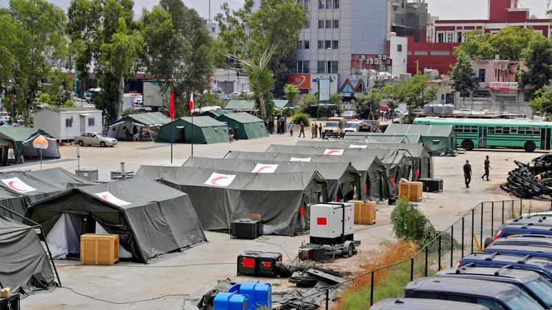 بعد شهر ونصف من الانفجار العظيم.. إطلالة من الداخل على المستشفى المغربي ببيروت