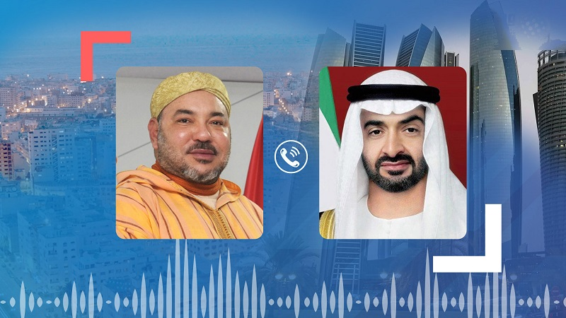 في إتصال هاتفي مع الملك.. بن زايد يرحب بقرار أمريكا الاعتراف بسيادة المغرب على صحرائه
