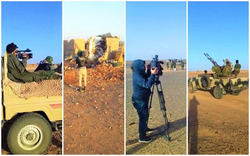 صور حصرية تفضح قيام 'بوليساريو' وإعلام الجزائر بتصوير حرب وهميةضد المغرب