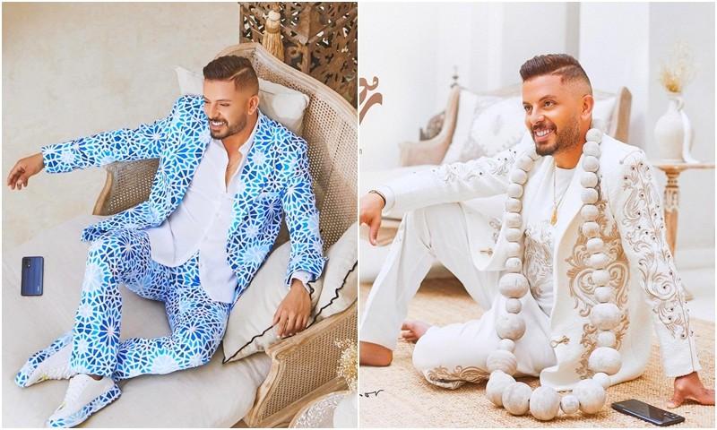 أزياء حاتم عمور الغريبة تثير سخرية عارمة وسط مغاربة السوشل ميديا