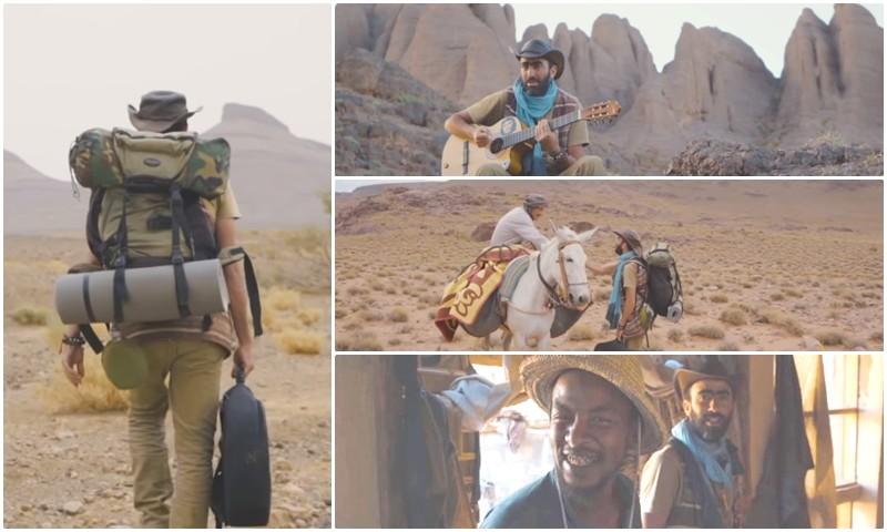 'في يد الله'.. حقيبة وقيثارة تعبران مع سمير الصحراء المغربية بحثا عن الصداقة