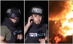 (فيديو مؤثر) مراسل TRT ينطق الشهادة على الهواء بعد سقوط صواريخ إسرائيلية قربه في غزة