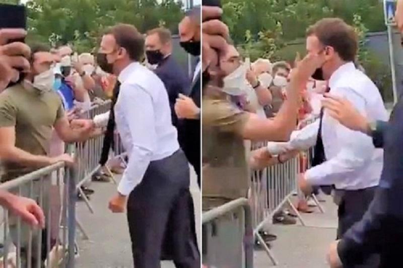 تنتظره 3 سنوات سجناً.. من هو المواطن الفرنسي الذي صفع الرئيس ماكرون؟