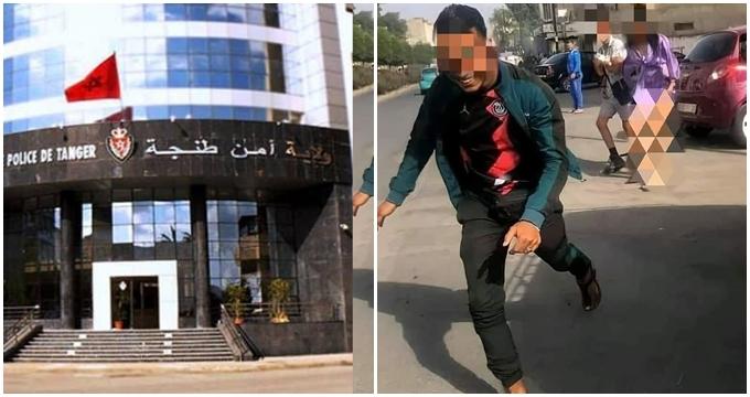 """الأمن يدخل على خط فيديو تعرية """"فتاة طنجة"""" بالشارع العام (فيديو)"""