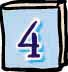 number four on baby-blue book cover