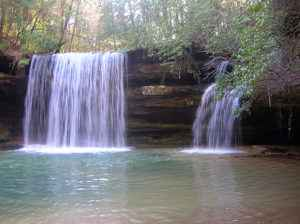Upper Caney Falls in the Bankhead National Forest, near Haleyville.