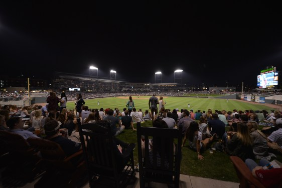 A crowd takes in a Birmingham Barons game at Regions Field. The city isn't just getting positive recognition from outsiders; area residents are expressing more hometown pride and optimism. (Chris Jones/Alabama NewsCenter)