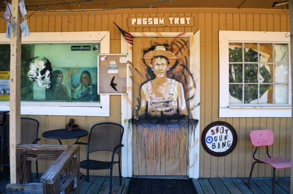 Butch Anthony's self-portrait at Possum Trot. (Anne Kristoff/Alabama NewsCenter)
