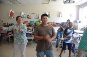 Summer classroom setting at Dream Catcher sometimes involves dance. The program lasts six weeks. (Karim Shamshi-Basha/Alabama NewsCenter)