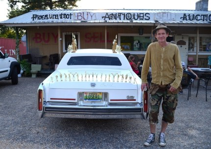 Butch Anthony with his Loser Car at Possum Trot. (Anne Kristoff/Alabama NewsCenter)