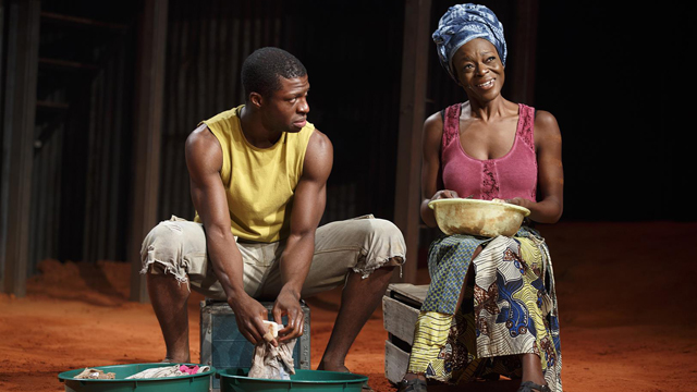 "UA alum Michael Luwoye performs off-Broadway with Adeola Role in ""Invisible Thread."" Luwoye also has starred in ""Hamilton"" on Broadway. (Joan Marcus)"