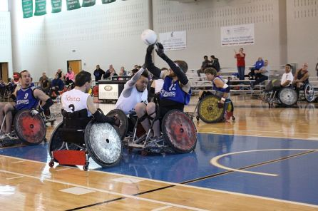 The 2016 Demolition Derby Wheelchair Rugby Tournament. (Lakeshore Foundation)