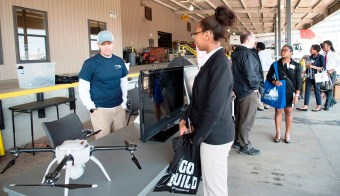 Ninth-grade students from Gadsden and Birmingham got everything from hands-on to virtual reality exposure to the many types of engineering and skilled jobs available through Alabama Power. (Brittany Faush-Johnson / Alabama NewsCenter)