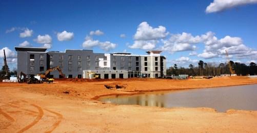 The Marriott Townplace Suites is set to open next month. (Robert DeWitt / Alabama NewsCenter)