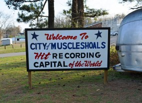 The sign says it all. (Anne Kristoff/Alabama NewsCenter)