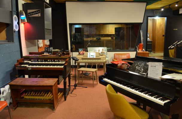The interior of the original Muscle Shoals Sound studios, restored to its original ragged glory. (Anne Kristoff/Alabama NewsCenter)